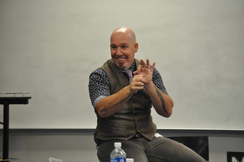 Matthew LaPlante teaching Copper Hills Students.