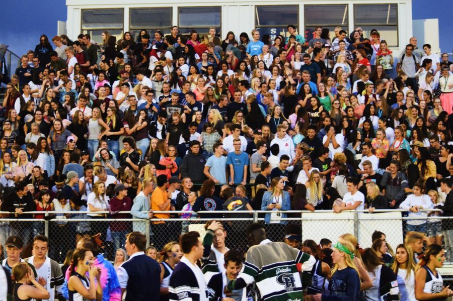 The+Copper+Hills+student+section+during+a+home+game.+
