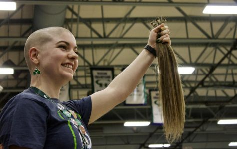 Grizzlies Shave Heads at St. Baldrick's Assembly